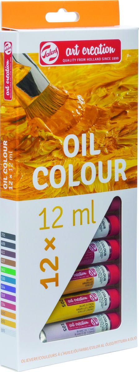 Royal Talens Набор масляных красок Art Creation 12 цветов 9020112M9020112MСерия масляных красок ArtCreation имеет палитру ярких оттенков, изготовленных на основе высококачественных пигментов и растительных масел. Краски пригодны для всех методов масляной живописи. Масляные краски сохнут очень медленно, что позволяет продолжать исправлять живопись в течение длительного времени. После высыхания краски не темнеют и сохраняют объем.Уровень Entry.