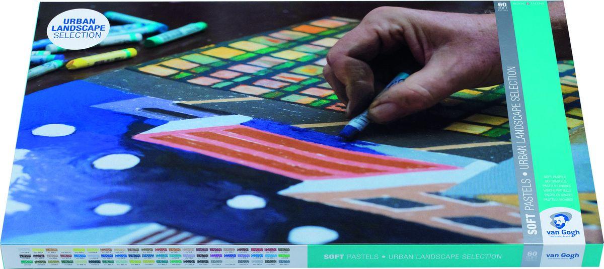 Royal Talens Набор сухой пастели Van Gogh 60 цветов90820160Сухая пастель Van Gogh производится из чистых пигментов, смешанных с каолином. Не содержит тяжелых металлов и других вредных веществ. Благодаря идеальному сочетанию компонентов, пастель не рассыпается, а цветопередача остается на высоком уровне. Сухая пастель Van Gogh подходит для тонких и детальных прорисовок и может быть использована на таких поверхностях как: бумага, картон, камень, асфальт или дерево.