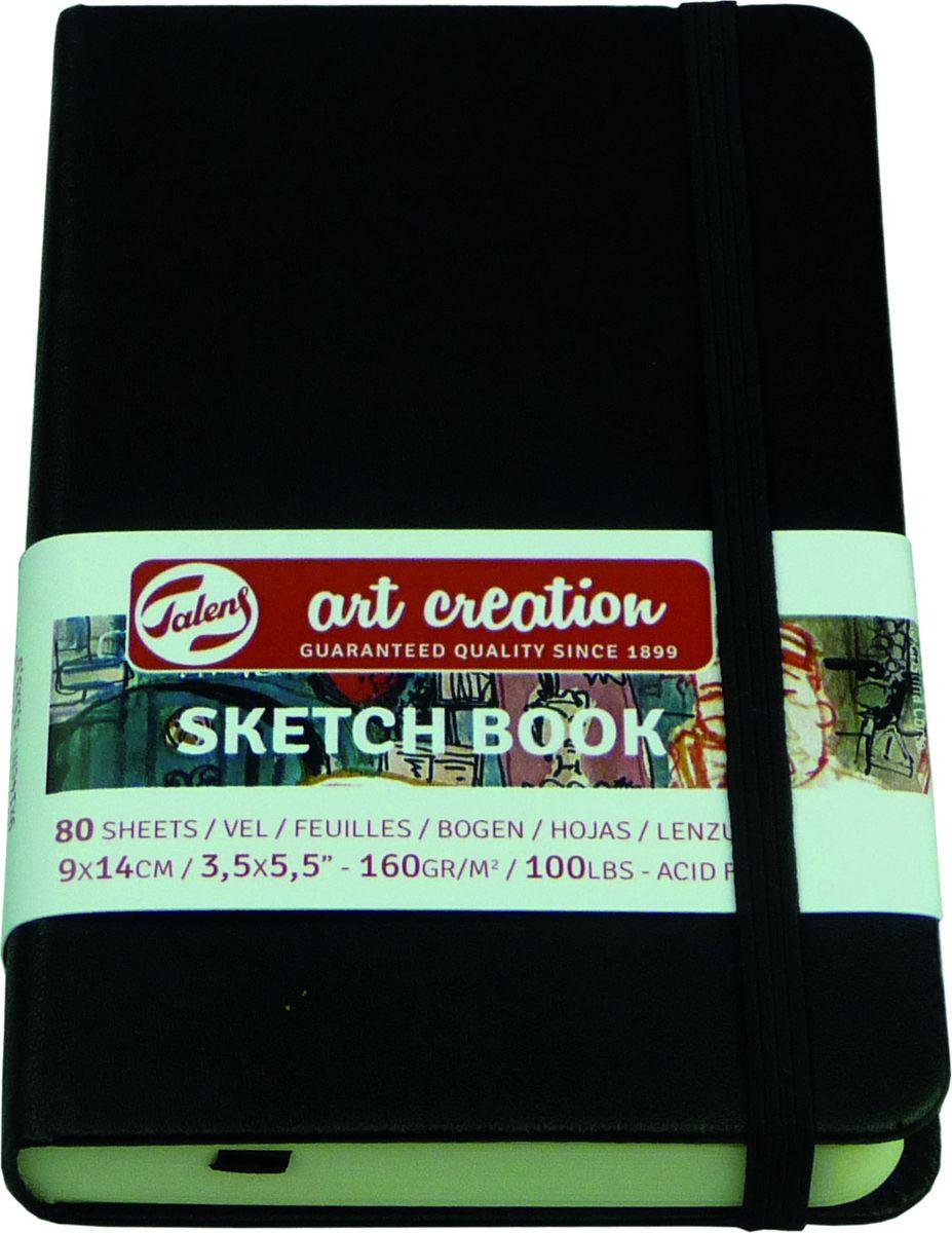 Royal Talens Блокнот для зарисовок Art Creation цвет черный 80 листов 9314001M9314001MБлокноты Art Creation идеально подойдут для графических зарисовок карандашом, пастелью, углем, ручкой, а также для записей и заметок.Благодаря высококачественной бумаге, гелевые и масляные чернила не просачиваются, а твердая обложка защищает листы от смятия.
