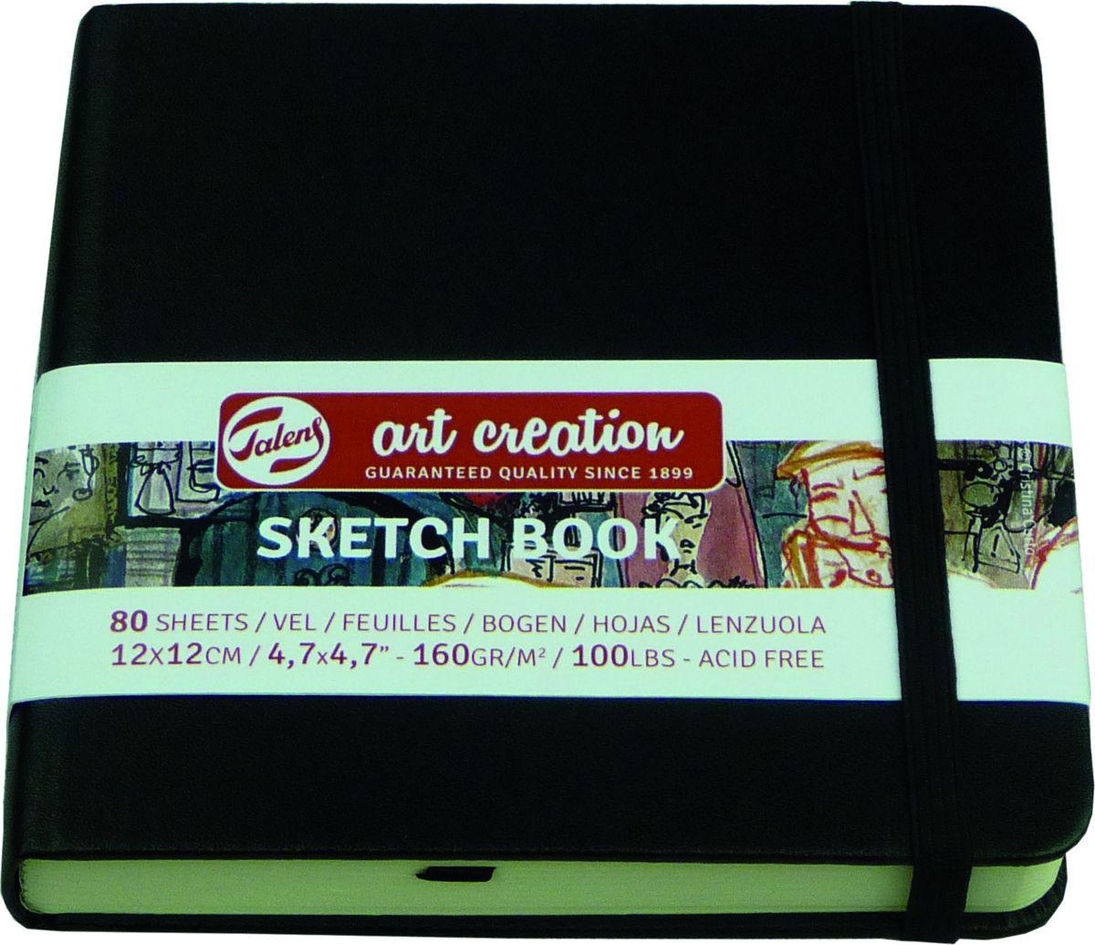 Блокнот для зарисовок Royal Talens Art Creation, цвет: черный, 80 листов, 9314004M9314004MБлокнот Art Creation идеально подойдет для графических зарисовок карандашом, пастелью, углем, ручкой, а также для записей и заметок.Благодаря высококачественной бумаге, гелевые и масляные чернила не просачиваются, а твердая обложка защищает листы от смятия.