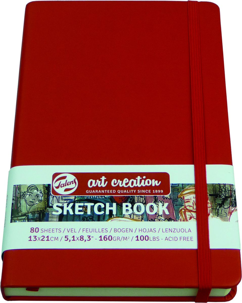 Royal Talens Блокнот для зарисовок Art Creation цвет красный 80 листов 9314202M9314202MБлокноты Art Creation идеально подойдут для графических зарисовок карандашом, пастелью, углем, ручкой, а также для записей и заметок.Благодаря высококачественной бумаге, гелевые и масляные чернила не просачиваются, а твердая обложка защищает листы от смятия.