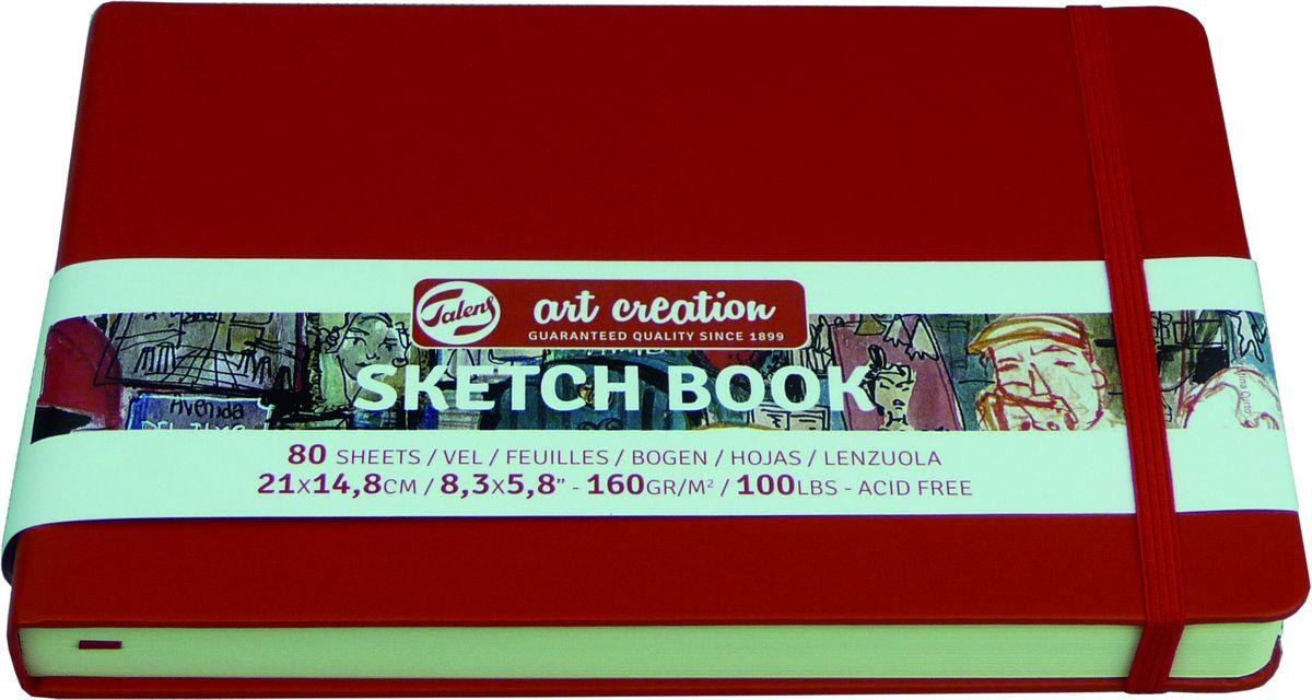 Royal Talens Блокнот для зарисовок Art Creation цвет красный 80 листов 9314205MN6s_6903Блокнот Art Creation идеально подойдет для графических зарисовок карандашом, пастелью, углем, ручкой, а также для записей и заметок.Благодаря высококачественной бумаге, гелевые и масляные чернила не просачиваются, а твердая обложка защищает листы от смятия.