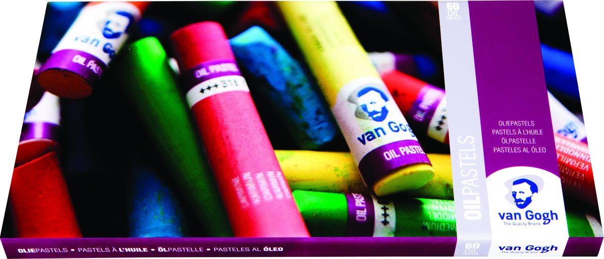 Royal Talens Набор масляной пастели Van Gogh Профессиональный 60 цветов95860061Масляная пастельVan Goghпроизводится на основе чистых пигментов с добавлением жиров и воска, благодаря чему становится удивительно мягкой и удобной в использовании. Масляной пастелью Van Gogh легко работать в различных техниках. Оттенки легко смешиваются и перекрываются.Компоненты, содержащиеся в масляной пастели, не высыхают и не меняют свои цвета с течением времени.Подходит для множества основ: бумага, картон, дерево, холст, ткань.