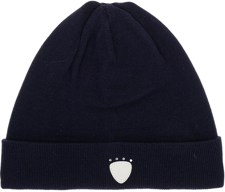 Шапка женская Luhta, цвет: темно-синий. 838604830LV-380. Размер универсальный838604830LV-380Женская шапка Luhta с отворотом изготовлена из натурального хлопка. Модель выполнена в лаконичной однотонной расцветке. Дополнена шапка нашивкой из кожи.