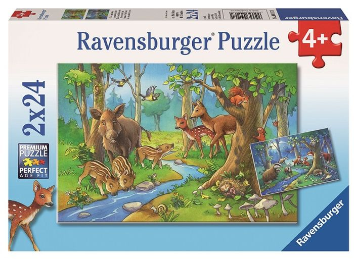 Ravensburger Пазл Лесные жители 2 в 1