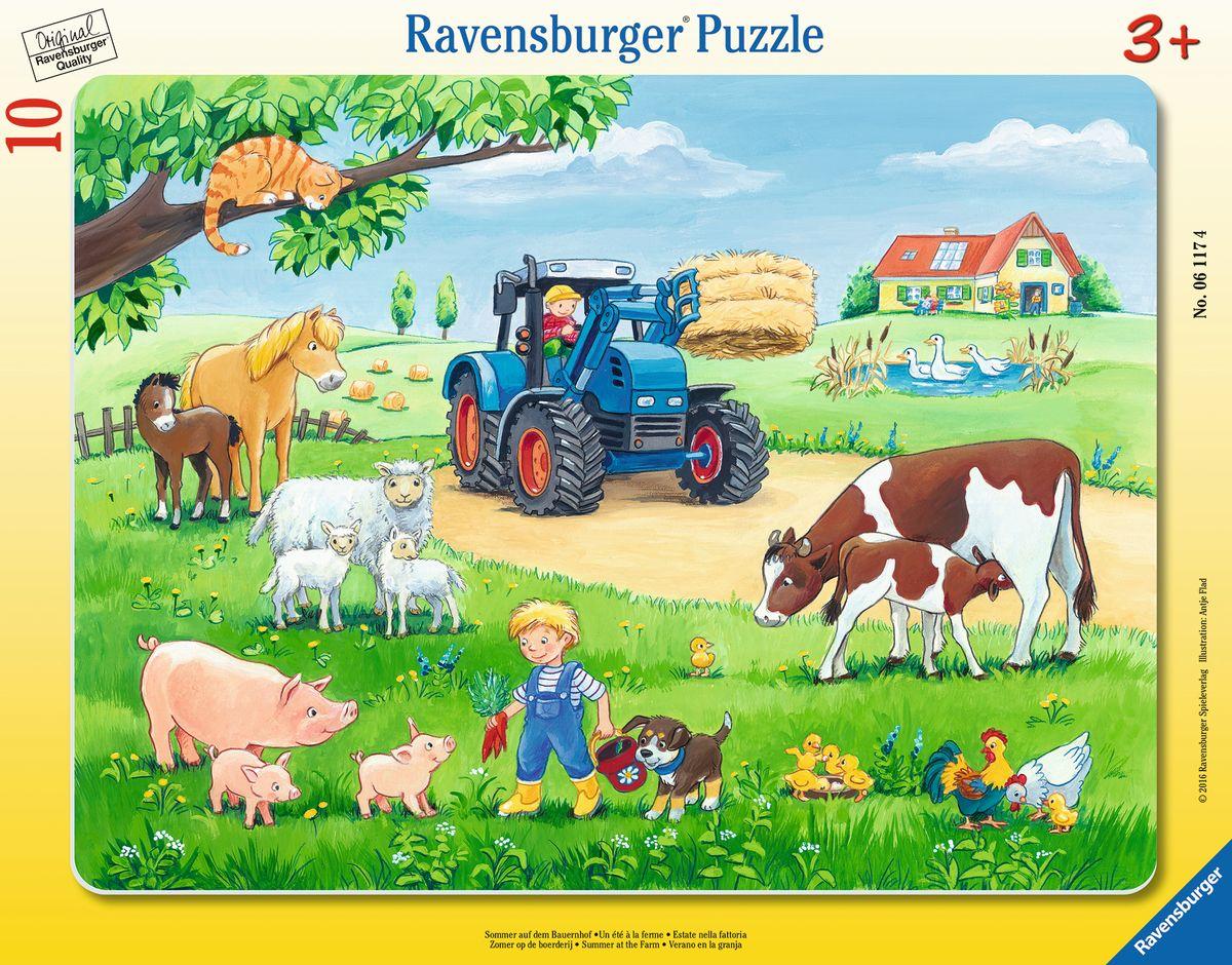 Ravensburger Пазл для малышей Лето в деревне как дом в деревне на мат капиталл