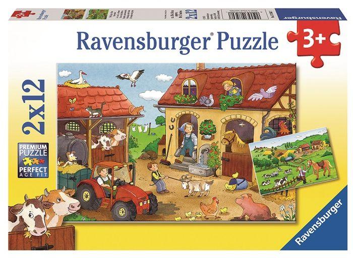 Ravensburger Пазл для малышей Работа на ферме 2 в 1 пазлы ravensburger паззл маяк на полуострове брус 1000 шт