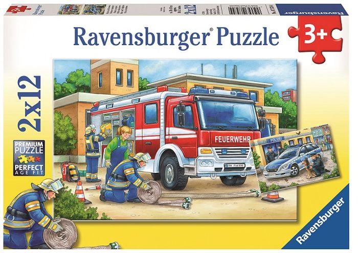 Ravensburger Пазл Полицейские и пожарные 2 в 1