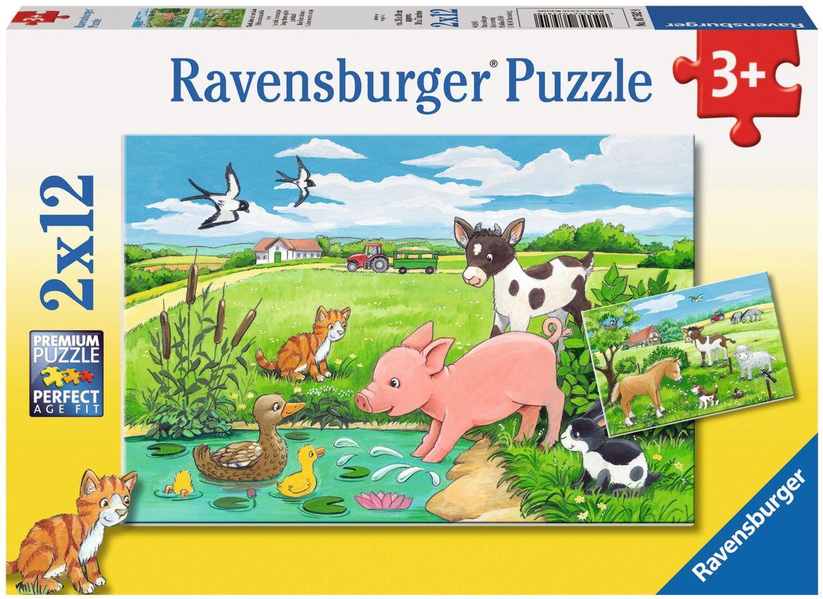 Ravensburger Пазл Детки фермерских животных 2 в 1
