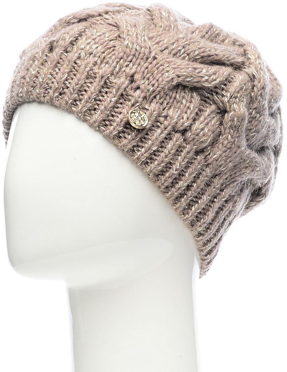 Шапка женская Snezhna, цвет: коричневый. SWH4834/2. Размер 56/58SWH4834/2Теплая шапка Snezhna классической формы с объемными вывязанными косами. Отличный вариант на каждый день в холодное время года.Уважаемые клиенты!Размер, доступный для заказа, является обхватом головы.