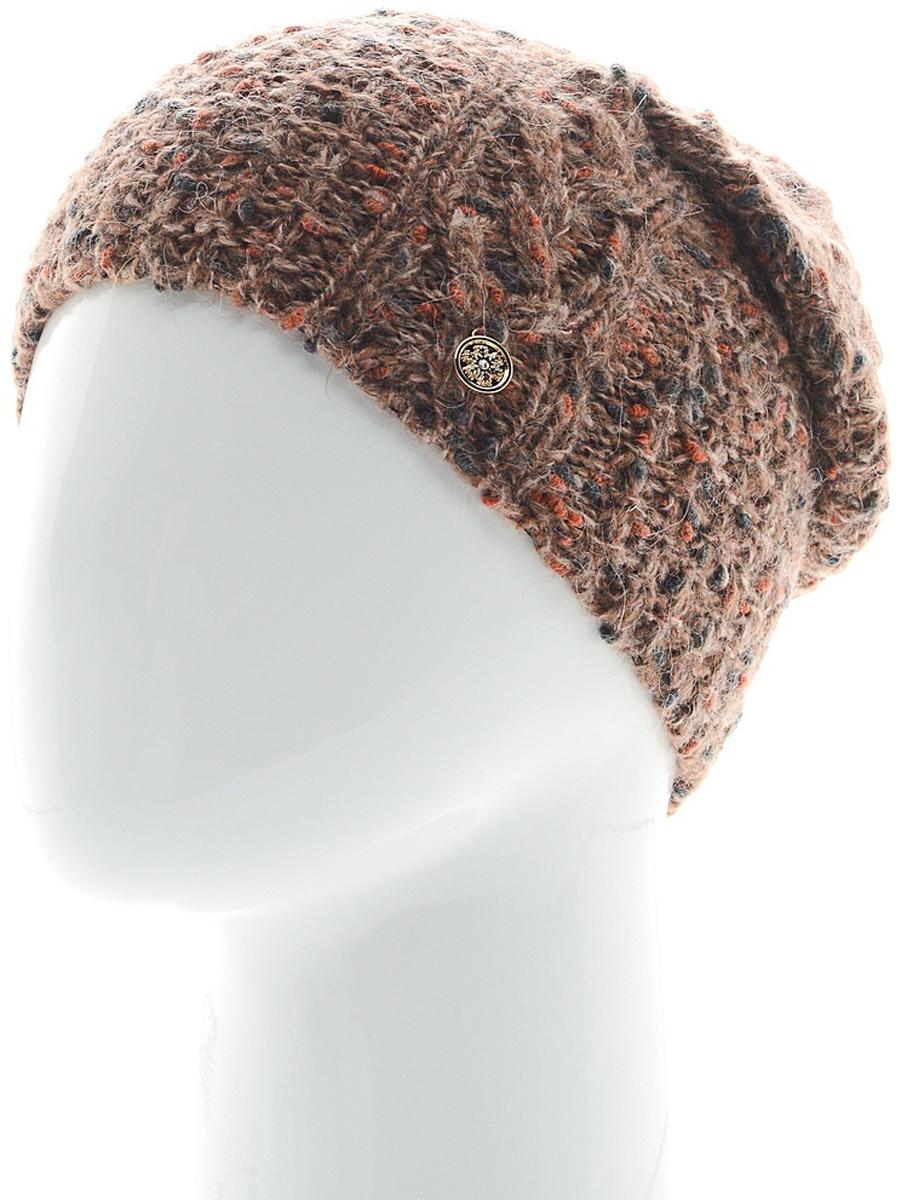 Шапка женская Snezhna, цвет: коричневый. SWH6841/2. Размер 56/58SWH6841/2Стильная шапка Snezhna, выполнена из высококачественной пряжи. Модель очень актуальна для тех, кто ценит комфорт, стиль и красоту. Отличный вариант на каждый день.Уважаемые клиенты!Размер, доступный для заказа, является обхватом головы.