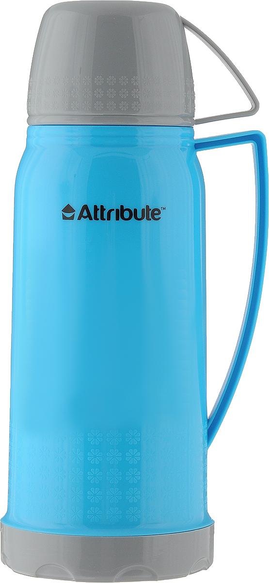 Термос Attribute Friendy, с ручкой, цвет: голубой, 600 млAVF403_голубойТермос Attribute Friendy подходит для напитков и настоек травяных отваров. Корпус из нержавеющей стали покрыт защитным цветным лаком, что создает дополнительную защиту рук при использовании на морозе. Термос сохраняет напиток горячим до 12 часов, а холодным - до 18 часов. Вакуумная теплоизоляция между стеклянной колбой и корпусом обеспечивает наилучшее сохранение тепла. Герметичная крышка снабжена теплоизоляционнымматериалом. Верхняя крышка плотно закрывает термос и может использоваться в качестве чаши для питья c ручкой. Изделие легкое и прочное, малый вес позволяет брать его с собой на работу и учебу, в поездки и походы. Диаметр горлышка: 3 см.Диаметр основания: 9,5 см.Высота (с крышкой): 26 см.