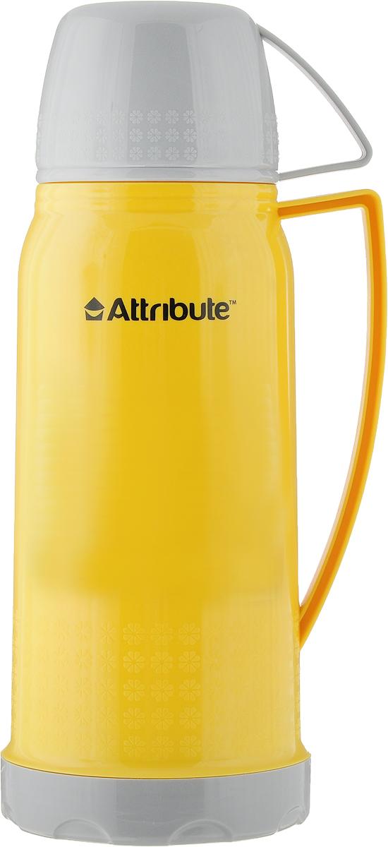 Термос Attribute Friendy, с ручкой, цвет: желтый, 600 мл съемник jonnesway ae310005