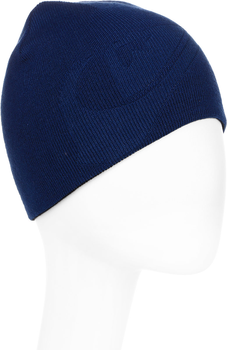 Шапка мужская Quiksilver, цвет: темно-синий. EQYHA03070-BSW0. Размер универсальныйEQYHA03070-BSW0Вязаная шапка Quiksilver выполнена из акрила.