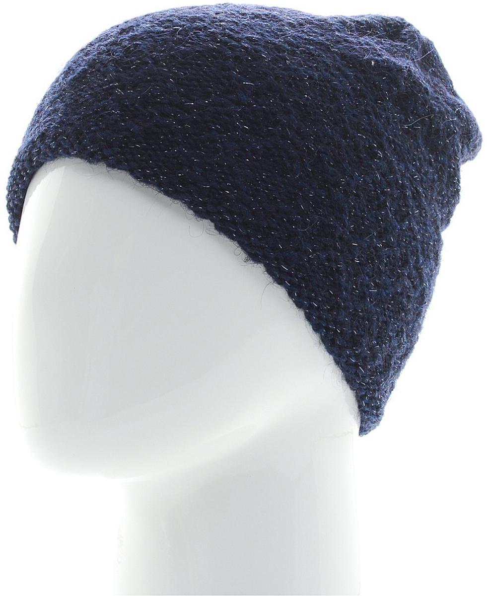 Шапка женская Snezhna, цвет: темно-синий. SWH6843/3. Размер 56/58SWH6843/3Стильная шапка-колпак Snezhna, выполнена из высококачественной пряжи. Модель очень актуальна для тех, кто ценит комфорт, стиль и красоту. Отличный вариант на каждый день.Уважаемые клиенты!Размер, доступный для заказа, является обхватом головы.
