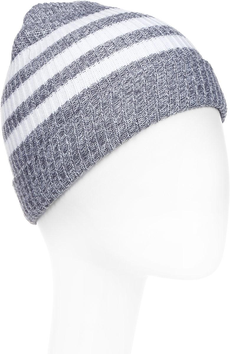 Шапка Adidas 3S Woolie, цвет: серый. BR9925. Размер 54/55BR9925Стильная шапка Adidas 3S Woolie выполнена из меланжевой пряжи свободной вязки и оформлена тремя контрастными полосками. Шапка защитит от холода и ветра в непогу и позволит создать модный и современнный образ.