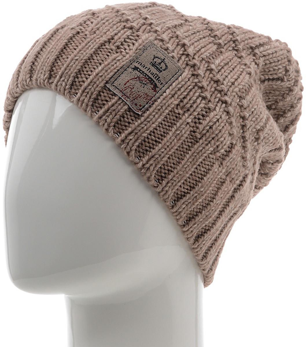Шапка мужская Marhatter, цвет: бежевый. Размер 57/59. MMH6812/2MMH6812/2Отличная вязаная шапка в стиле сasual. Модель прекрасно подойдет активным молодым людям, ценящим комфорт и удобство. Идеальный вариант на каждый день.