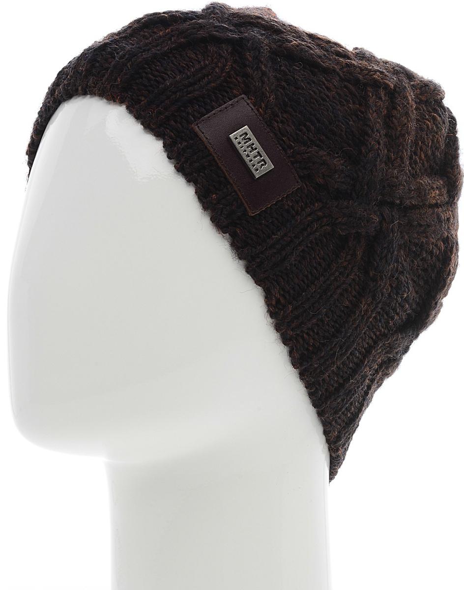 Шапка мужская Marhatter, цвет: коричневый. Размер 57/59. MMH5957/2MMH5957/2Великолепная шапка обладает модным дизайном, который будет актуальным как на спортивных мероприятиях, так и в повседневной жизни.