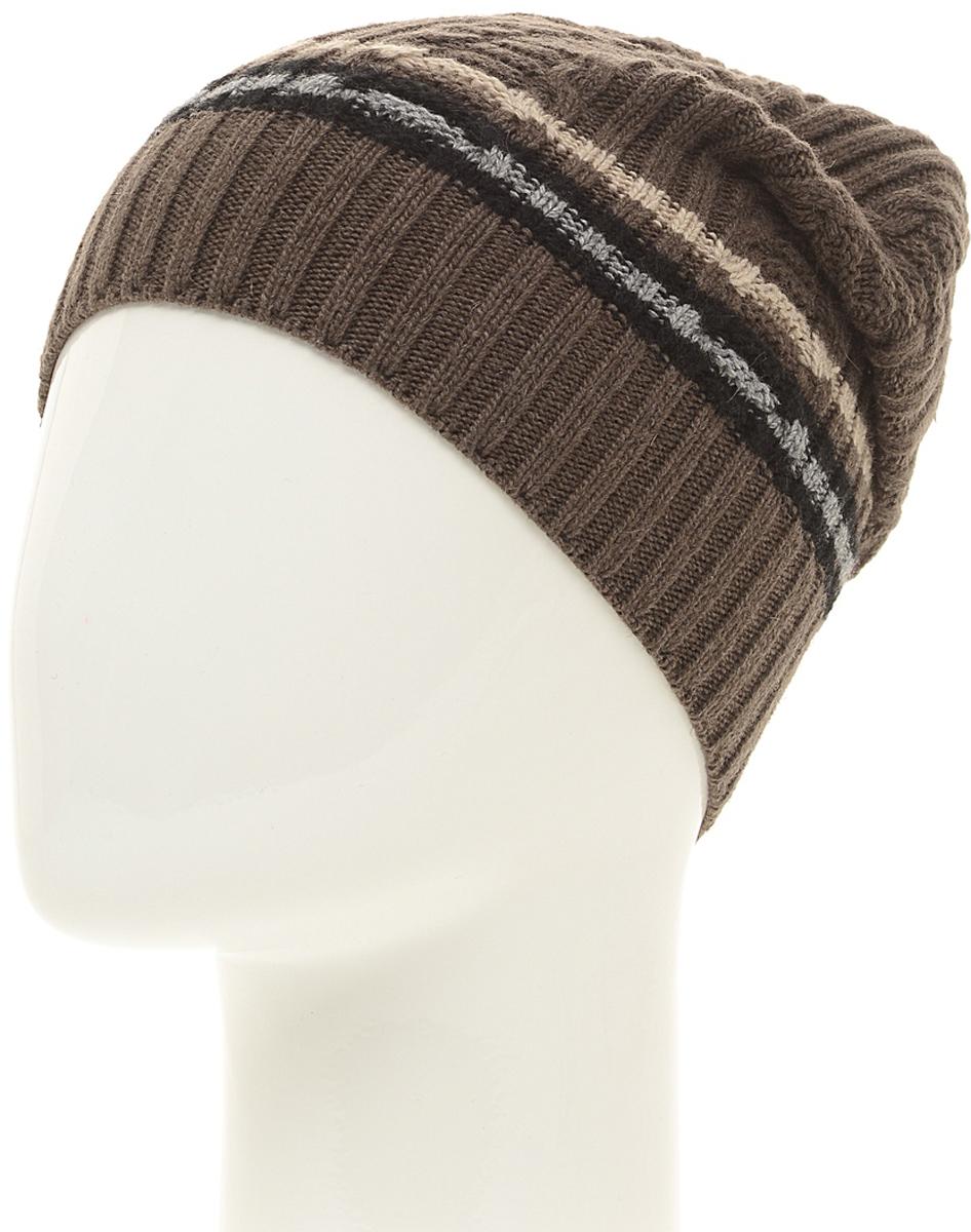 Шапка мужская Marhatter, цвет: коричневый. Размер 57/59. MMH6591/2MMH6591/2Стильная шапка выполнена из тонкого кашемира и утеплена флисом. Идеальный вариант на каждый день.