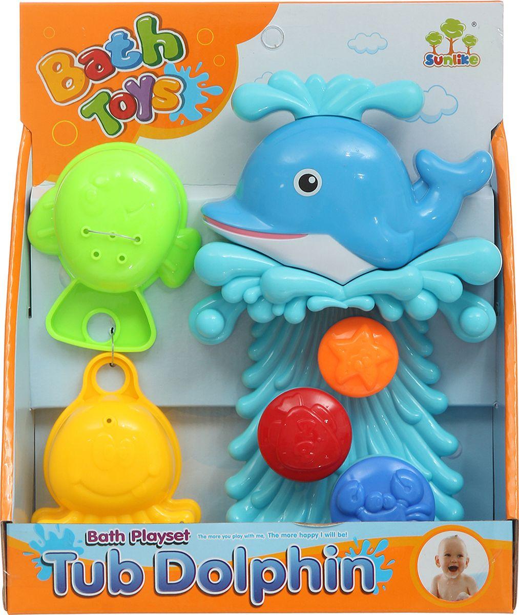 Shantou Gepai Набор игрушек для ванной Дельфинчик 3 предмета магазин игрушек игра для детей