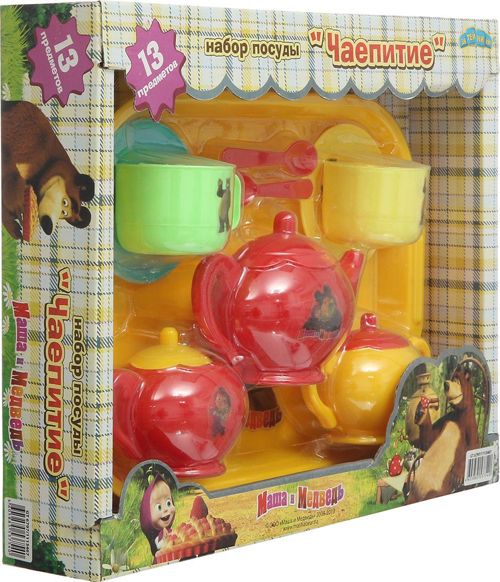 Маша и Медведь Игровой набор посуды Чайный сервиз 13 предметов alex игровой набор посуды чайный сервиз весна 16 предметов