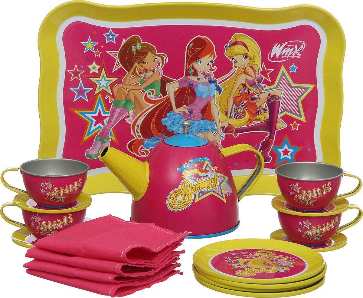 Winx Club Игровой набор посуды Чайный сервиз 18 предметов - Сюжетно-ролевые игрушки