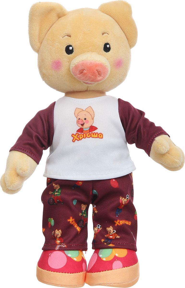Спокойной ночи, малыши! Мягкая озвученная игрушка Хрюша в пижаме 27 см - Мягкие игрушки