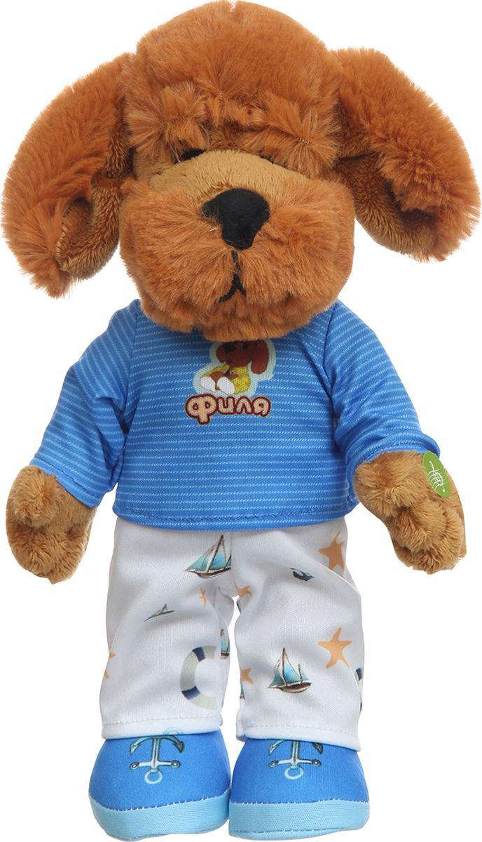 Спокойной ночи, малыши! Мягкая озвученная игрушка Филя в пижаме 27 см - Мягкие игрушки