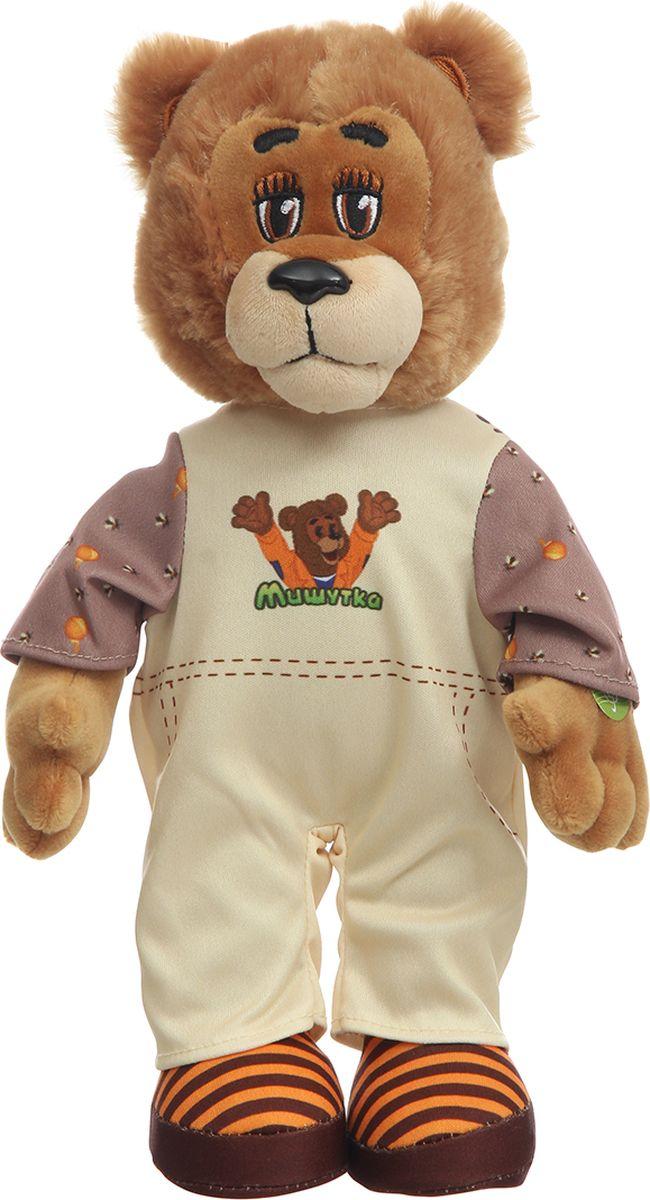 Спокойной ночи, малыши! Мягкая озвученная игрушка Мишутка в пижаме 28 см - Мягкие игрушки