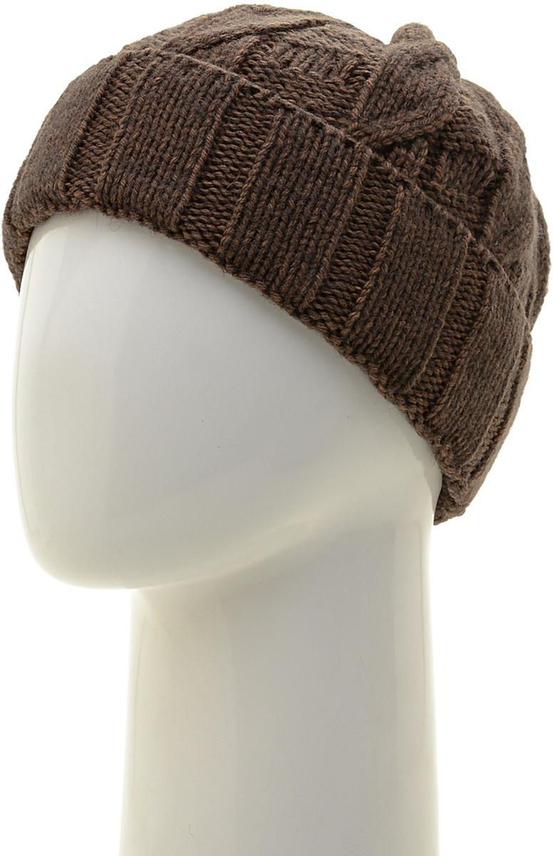 Шапка мужская Marhatter, цвет: коричневый. Размер 57/59. MMH6757/2MMH6757/2Универсальная шапка, отлично подходит под любой стиль одежды. Сдержанный строгий дизайн, деликатная отделка и классические цвета.