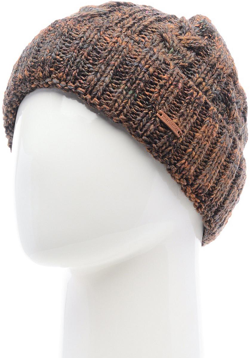 Шапка мужская Marhatter, цвет: коричневый. Размер 57/59. MMH6783/2MMH6783/2Отличная вязаная шапка в стиле сasual. Модель прекрасно подойдет активным молодым людям, ценящим комфорт и удобство. Идеальный вариант на каждый день.