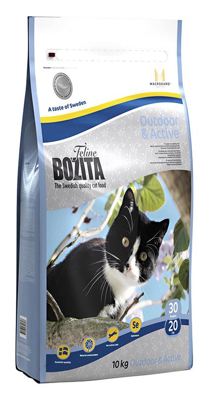 Корм сухой Bozita  Feline Outdoor & Active , для молодых кошек (переход с Kitten), для взрослых активных домашних кошек, 10 кг