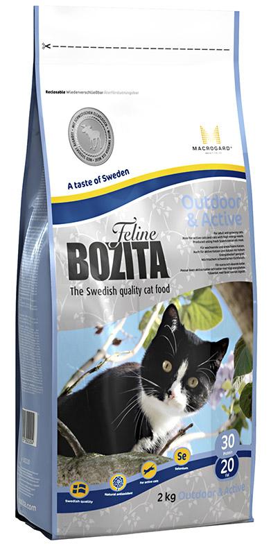 Корм сухой Bozita  Feline Outdoor & Active , для молодых кошек (переход с Kitten), для взрослых активных домашних кошек, 2 кг - Корма и лакомства
