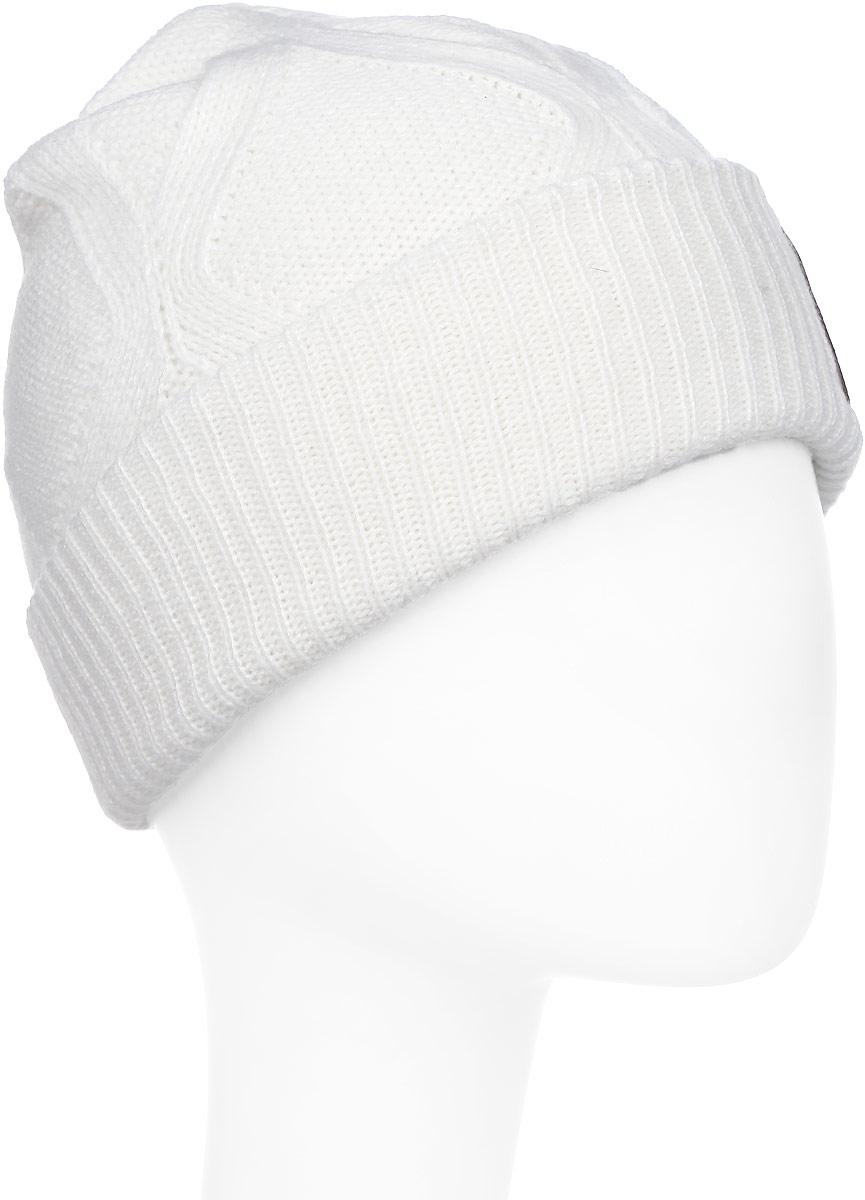 Шапка женская Reebok Sport Essentials Cable Beanie, цвет: белый. AY0425. Размер 22AY0425Стильная женская шапка Reebok Sport Essentials Cable Beanie выполнена из высококачественного полиакрила.Шапка оформлена оригинальным вязаным узором и небольшой вышивкой с фирменным логотипом.Уважаемые клиенты!Размер, доступный для заказа, является обхватом головы.