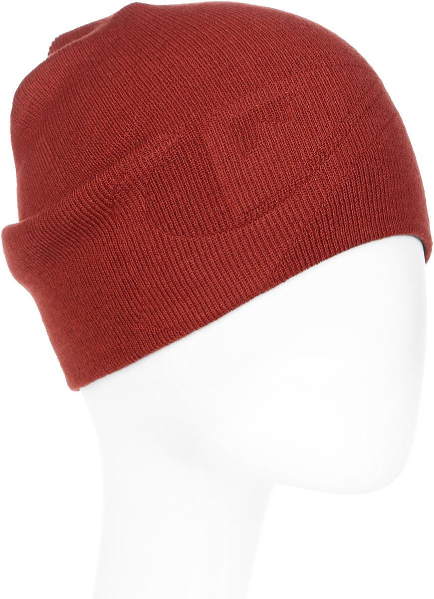 Шапка мужская Quiksilver, цвет: рыжий. EQYHA03071-RQP0. Размер универсальныйEQYHA03071-RQP0Вязаная шапка Quiksilver выполнена из акрила.