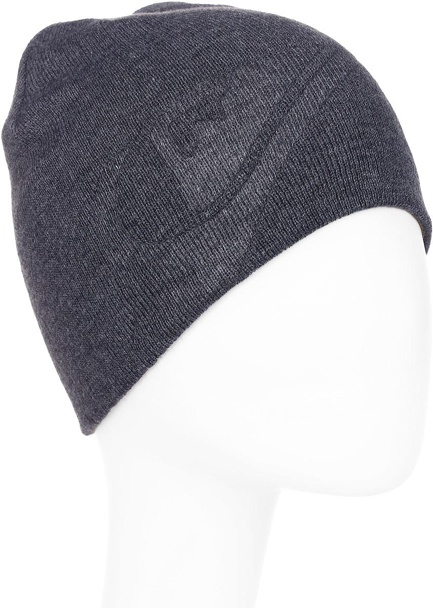 Шапка мужская Quiksilver, цвет: темно-серый. EQYHA03070-KVJH. Размер универсальныйEQYHA03070-KVJHВязаная шапка Quiksilver выполнена из акрила.