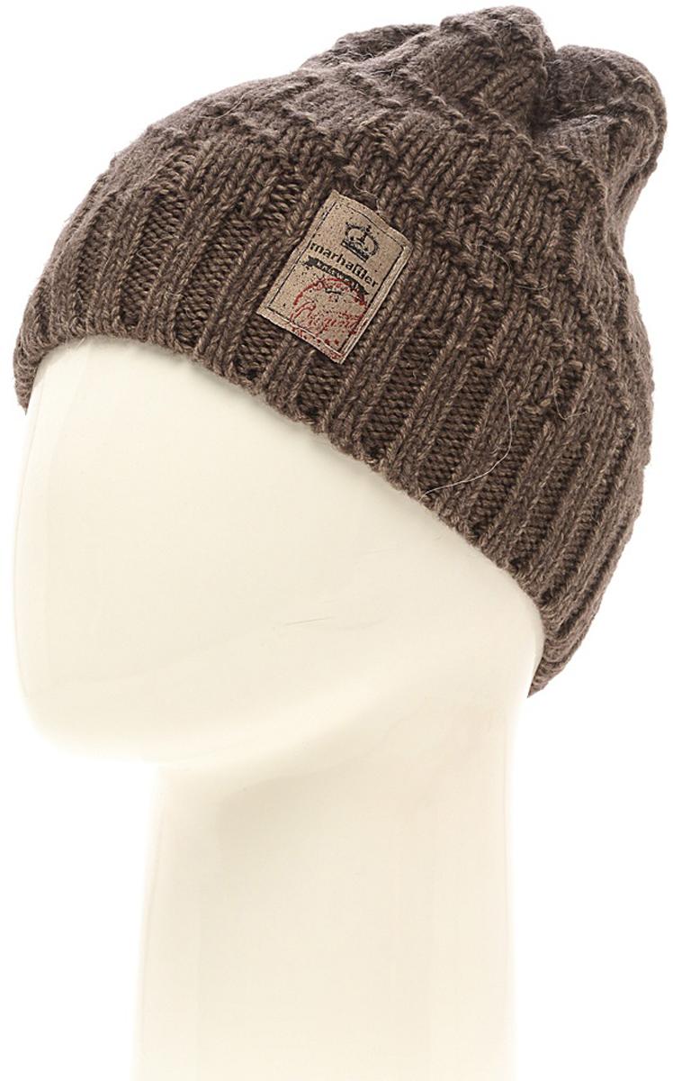 Шапка мужская Marhatter, цвет: светло-бежевый. Размер 57/59. MMH6812/2MMH6812/2Отличная вязаная шапка в стиле сasual. Модель прекрасно подойдет активным молодым людям, ценящим комфорт и удобство. Идеальный вариант на каждый день.