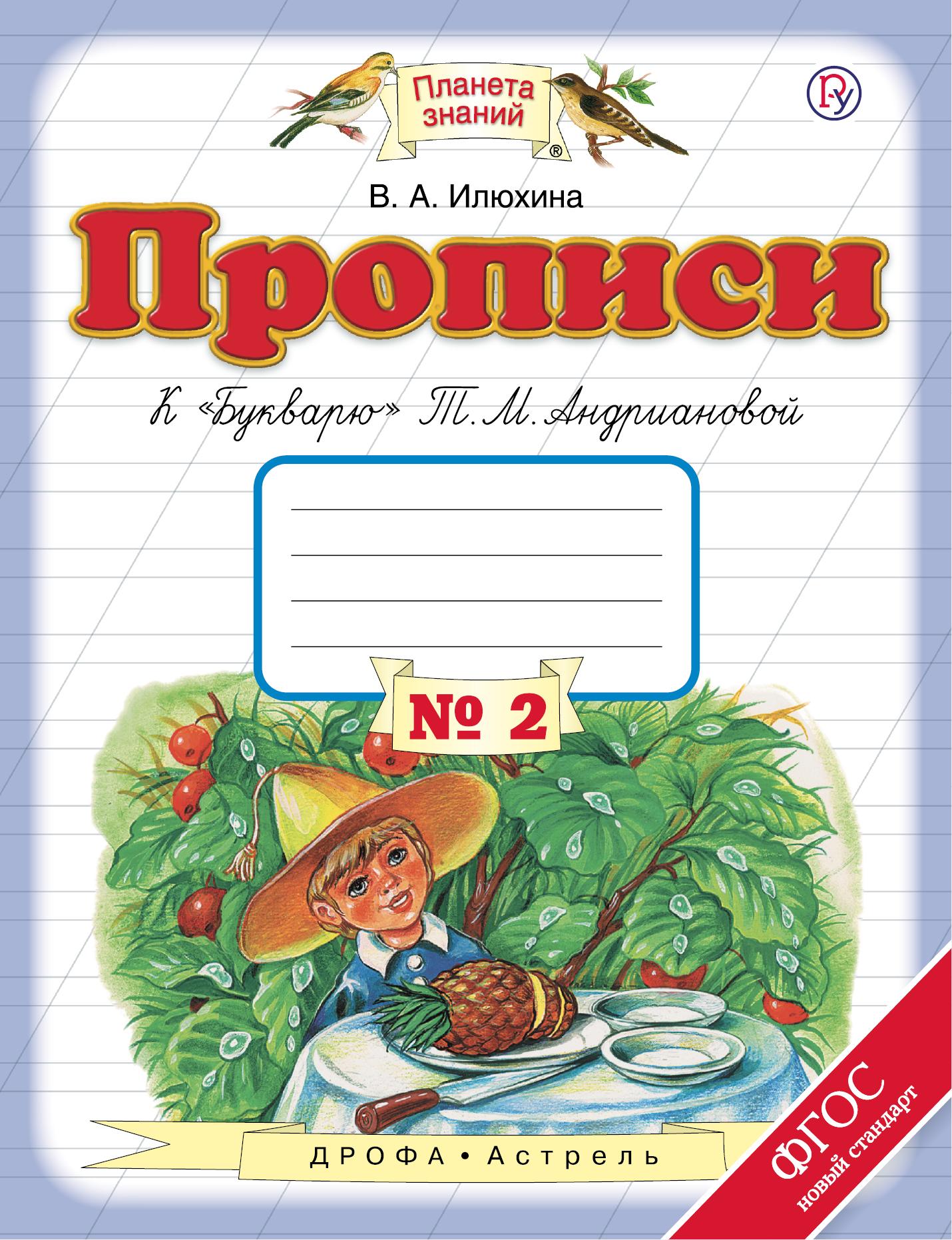 Прописи к «Букварю» Т.М.Андриановой. 1 класс. Тетрадь № 2, В. А. Илюхина