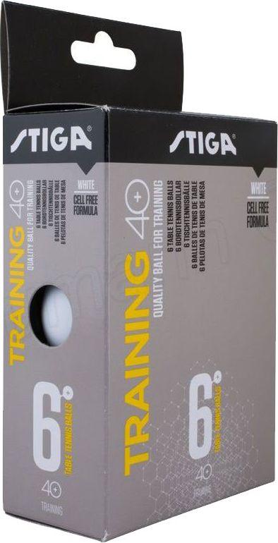 Шарики для пинг-понга Stiga Training ABS, со швом, цвет: белый, 6 шт1110-2610-06Мячи пластиковый шовные Training ABS 6 шт. белыеУровень подготовки: для начинающих