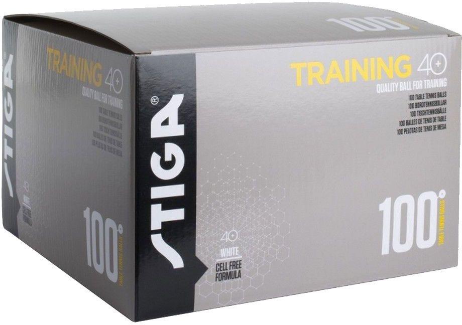 Шарики для пинг-понга Stiga Training ABS, со швом, цвет: белый, 100 шт1110-2710-10Мячи пластиковый шовные Training ABS 100 шт. белыеУровень подготовки: для начинающих