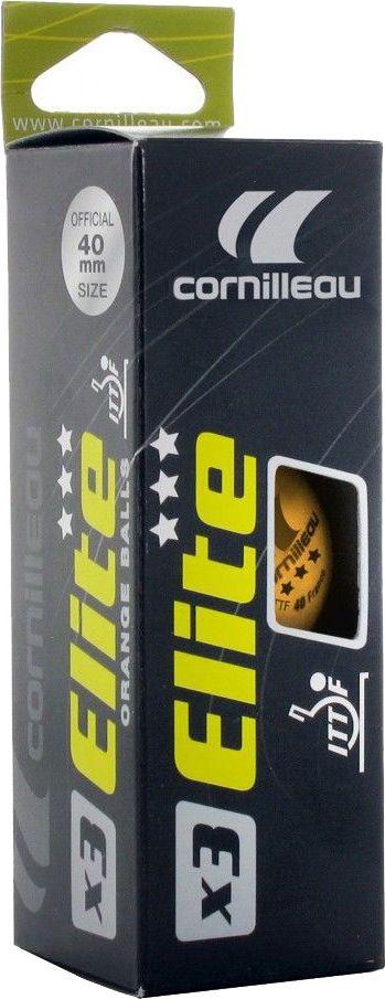 Шарики для пинг-понга Cornilleau  Elite ITTF , цвет: оранжевый, 40 мм, 3 шт - Настольный теннис