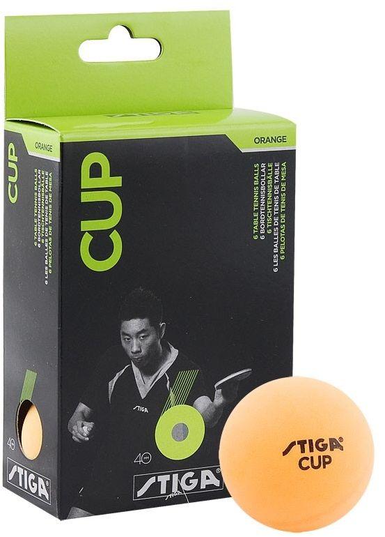 Шарики для пинг-понга Stiga Cup, 40 мм, цвет: оранжевый, 6 шт5115-06Мячи CUP 6 шт 40 мм (оранжевый)Уровень подготовки: для начинающих