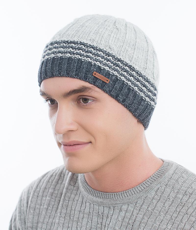 Шапка мужская Marhatter, цвет: светло-серый. Размер 57/59. MMH6852/2MMH6852/2Универсальная шапка, отлично подходит под любой стиль одежды. Сдержанный строгий дизайн, деликатная отделка и классические цвета.