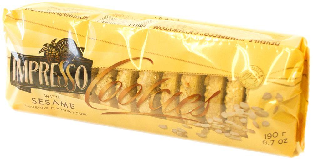 Импрессо печенье с кунжутом, 190 г гармония печенье на фруктозе с кунжутом отрубями и семечками подсолнечника 350 г
