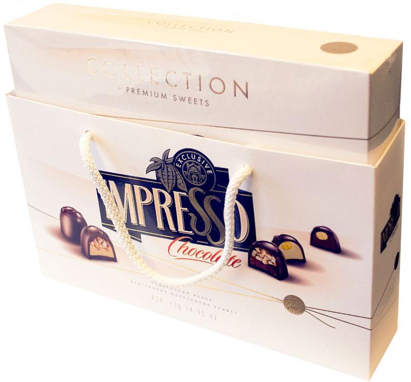 Impresso премиум набор шоколадных конфет белый, 424 г пудовъ кексики шоколадные 250 г