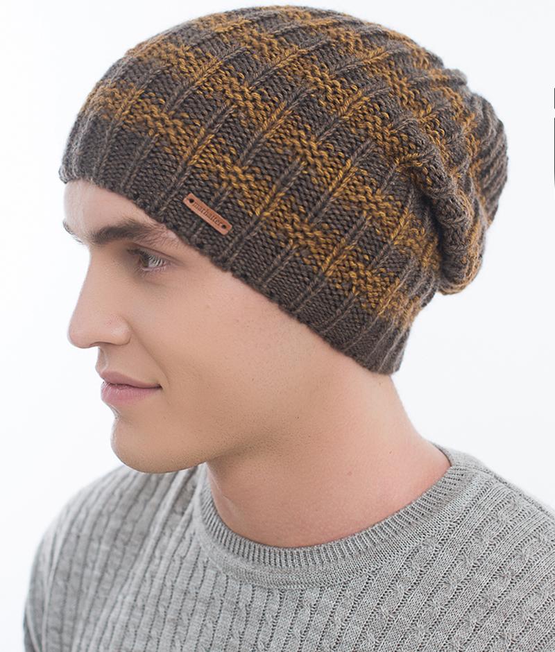 Шапка мужская Marhatter, цвет: серый, синий. Размер 57/59. MMH6536/1MMH6536/1Отличная вязаная шапка в стиле сasual. Модель прекрасно подойдет активным молодым людям, ценящим комфорт и удобство. Идеальный вариант на каждый день.