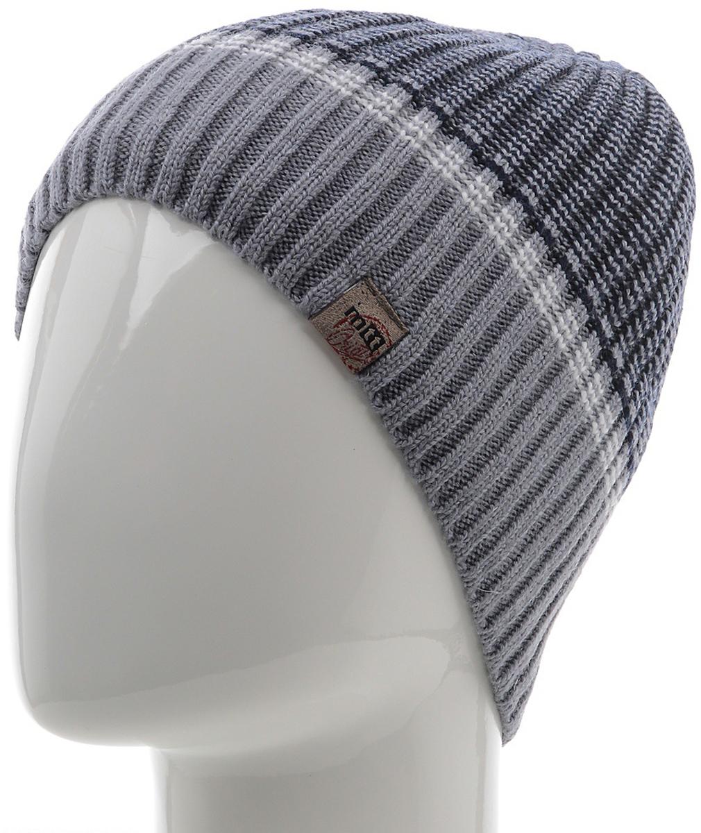 Шапка мужская Marhatter, цвет: серый. Размер 61/63. MMH7184/2MMH7184/2Универсальная шапка, отлично подходит под любой стиль одежды. Сдержанный строгий дизайн, деликатная отделка и классические цвета.