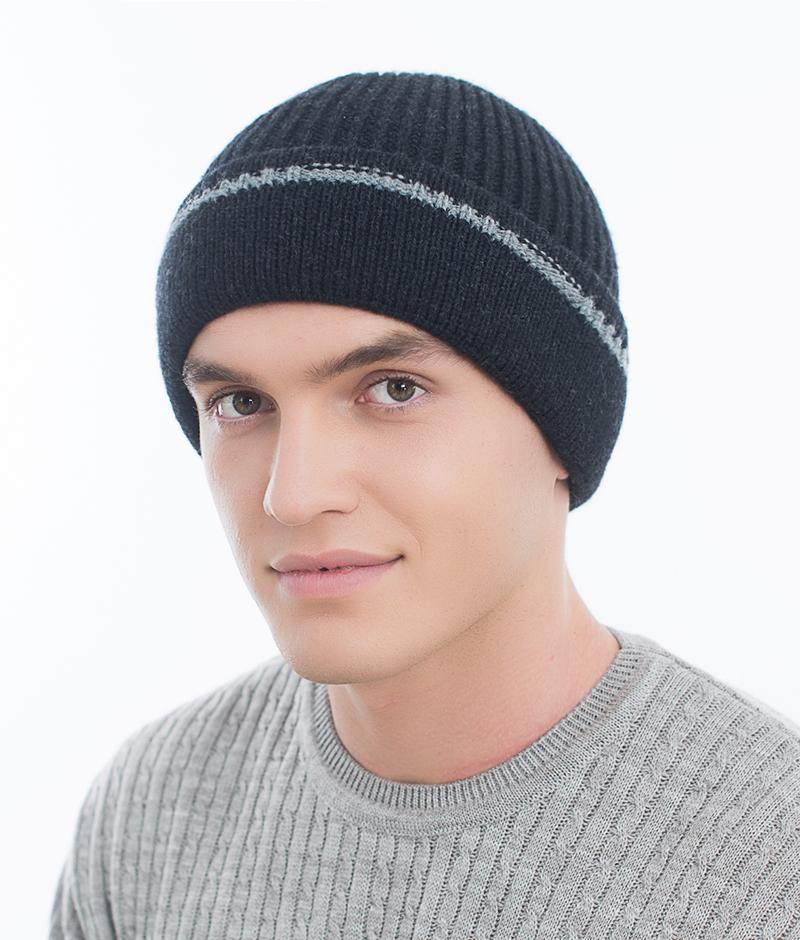 Шапка мужская Marhatter, цвет: синий. Размер 57/59. MMH6721/2MMH6721/2Универсальная шапка, отлично подходит под любой стиль одежды. Сдержанный строгий дизайн, деликатная отделка и классические цвета.