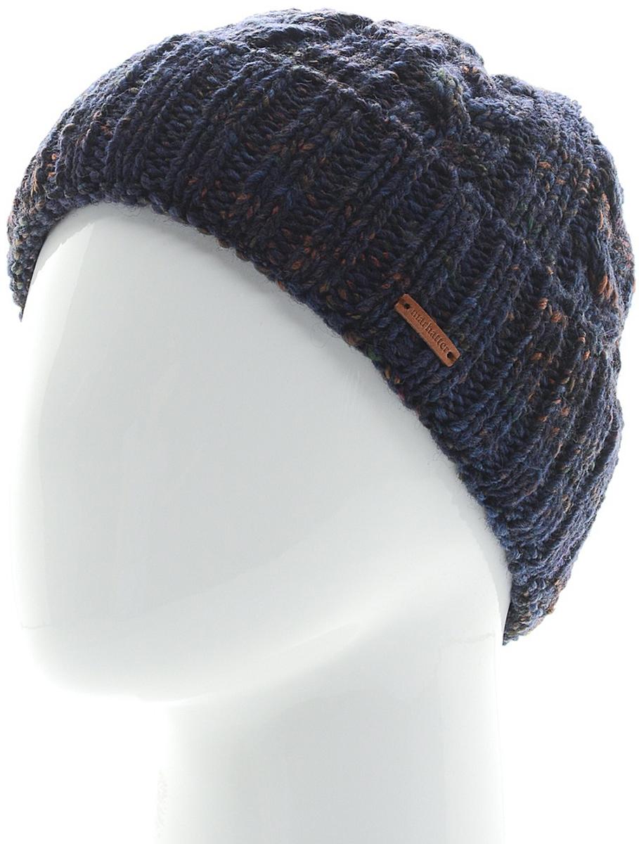 Шапка мужская Marhatter, цвет: синий. Размер 57/59. MMH6783/2MMH6783/2Отличная вязаная шапка в стиле сasual. Модель прекрасно подойдет активным молодым людям, ценящим комфорт и удобство. Идеальный вариант на каждый день.