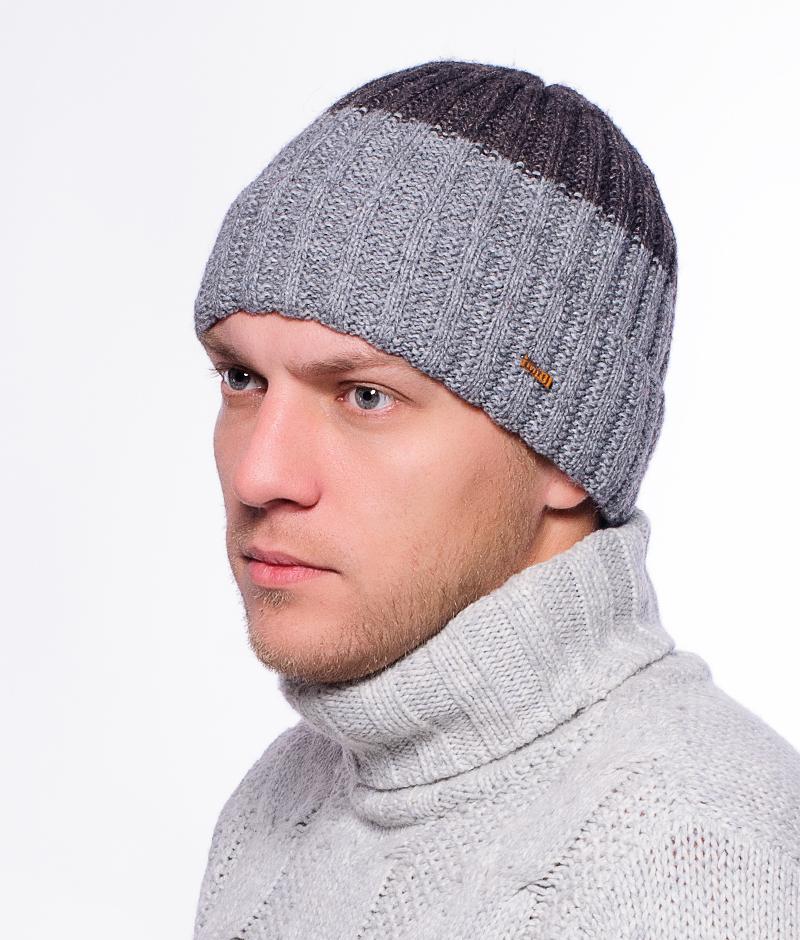 Шапка мужская Marhatter, цвет: темно-серый, серый. Размер 57/59. MMH4775/2MMH4775/2Замечательная теплая шапка с современным дизайном. Изделие прекрасно согреет вас в холодное время года.